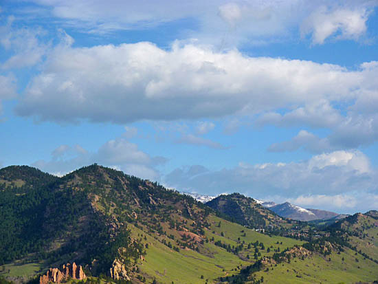 The Sanitas Valley and north Boulder foothills from the Chautauqua Trail