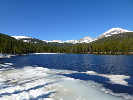 Finch Lake (9,912') with Mount Copeland and Ouzel Peak in the distance