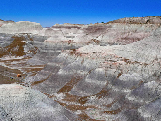 The Blue Mesa Badlands
