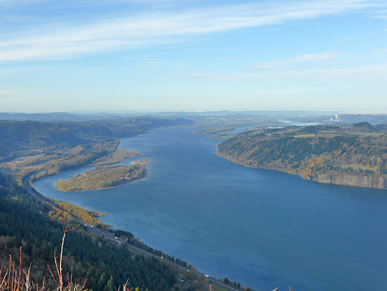 View of the Columbia River from Angels Rest