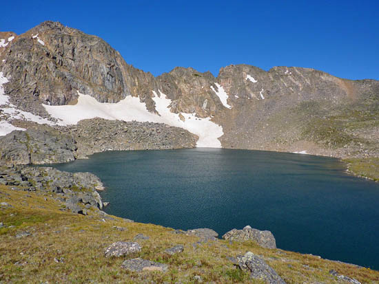 Lake Dorothy (12,061') and Mount Neva (12,814')