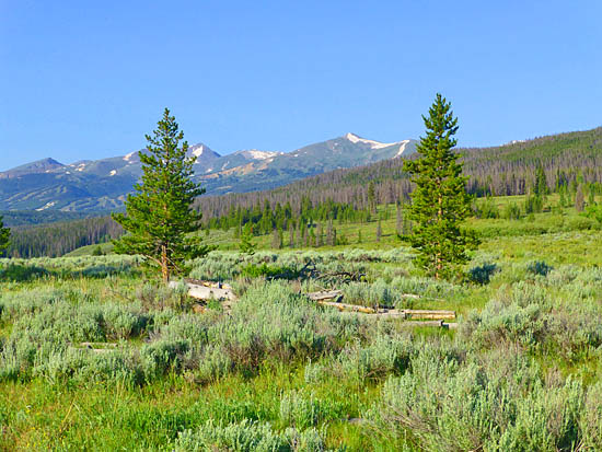 View of Breckenridge and the Ten Mile Range from the Gold Hill Trail