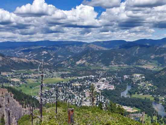 Views of Leavenworth from Icicle Ridge Overlook