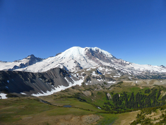Mount Rainier (14,410') from the Mt Fremont Lookout Trail
