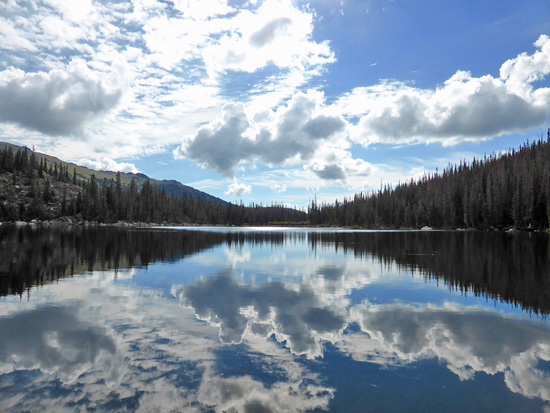 Ypsilon Lake (10,632') in the Mummy Range of Rocky Mountain National Park