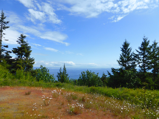 View across the Strait of Juan de Fuca from Striped Peak