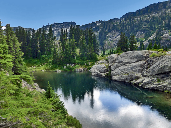 The first Rampart Lake in the Rampart Ridge Basin